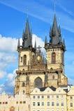 Catedral en verano, Praga de Tyn imágenes de archivo libres de regalías