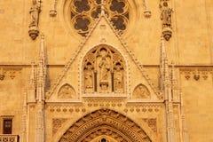 Catedral en Zagreb, Croacia Foto de archivo