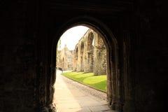 Catedral escura Reino Unido de Canterbury da entrada fotografia de stock
