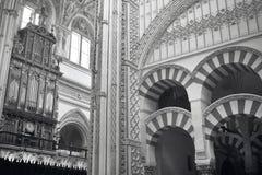Catedral espanhola Interior de Mezquita Córdova spain fotos de stock royalty free