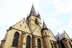 Catedral evangélica Sibiu, Rumania del Lutheran Imagen de archivo