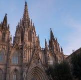 Catedral famosa em Barcelona imagem de stock royalty free
