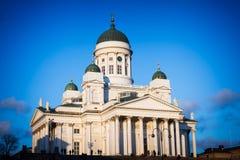 Catedral famosa em Helsínquia Imagem de Stock Royalty Free