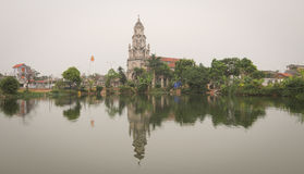 Catedral fantástica de Diem en Ninh Binh Imágenes de archivo libres de regalías