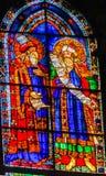Catedral Flor del Duomo del vitral de los profetas del viejo testamento imagen de archivo