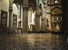 Catedral Florença do domo para dentro fotografia de stock royalty free