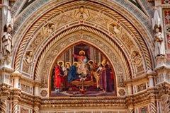 Catedral Florença Italy do domo do mosaico de Jesus foto de stock