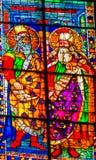 Catedral Florence Ital del Duomo del vitral de los santos del viejo testamento imagenes de archivo