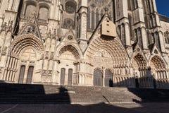 Catedral Francia de Bourges Fotos de archivo libres de regalías