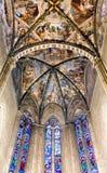 Catedral Frescoed Itália de Arezzo do teto Fotos de Stock Royalty Free