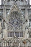 Catedral Front Trondheim Norway del oeste de Nidaros fotos de archivo libres de regalías