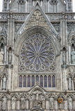 Catedral Front Trondheim Norway ocidental de Nidaros Fotos de Stock Royalty Free
