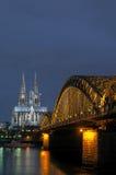 Catedral gótica de Colonia Foto de archivo libre de regalías