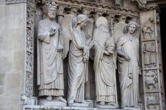 Catedral gótica de Notre Dame en París Imagenes de archivo