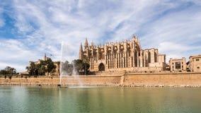 Catedral gótica en Palma de Mallorca Fotos de archivo libres de regalías