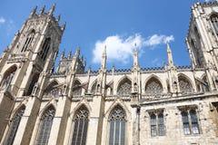 Catedral gótica en York, Reino Unido Fotografía de archivo