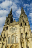 Catedral gótica hermosa en Chartres, Francia Fotografía de archivo libre de regalías