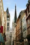 Catedral gótica Ruán - Francia de Notre Dame Fotos de archivo