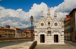 Catedral gótica Santa Maria della Spina pisa Italia imagenes de archivo