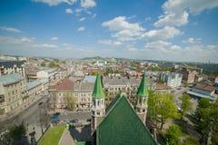 Catedral gótico A arquitetura gótico é um estilo de arquitetura que floresça durante a elevação e o período medieval atrasado Fotografia de Stock