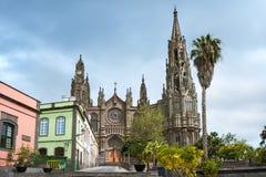 Catedral gótico de San Juan Bautista em Arucas, Gran Canaria, S foto de stock royalty free