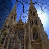 Catedral gótico histórica em New York City Foto de Stock Royalty Free