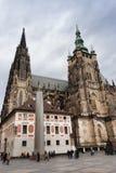 Catedral gótico a catedral a maior do ` s do St Vitus - da Praga Imagens de Stock