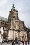 Catedral gótico a catedral a maior do ` s do St Vitus - da Praga Fotos de Stock Royalty Free