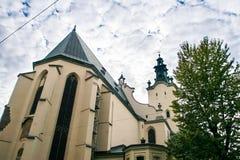Catedral Gregg-católica blanca histórica Imagenes de archivo