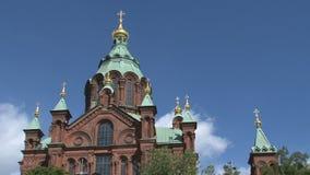 Catedral Helsinki de Uspenski almacen de metraje de vídeo