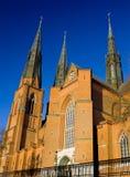 Catedral hermosa de Uppsala en Suecia Imagenes de archivo