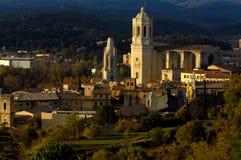 263 Catedral i Sant feliu chuch, Girona, Hiszpania Obrazy Royalty Free