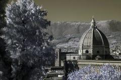 Catedral infrarroja de Florencia Foto de archivo libre de regalías