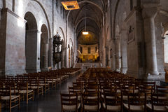 Catedral interior de Lund Fotografia de Stock Royalty Free