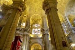 Catedral interior de Málaga--es una iglesia del renacimiento en la ciudad de Málaga, Andalucía, España meridional Imágenes de archivo libres de regalías