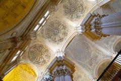 Catedral interior de Málaga--es una iglesia del renacimiento en la ciudad de Málaga, Andalucía, España meridional imagenes de archivo