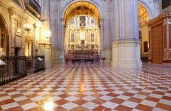 Catedral interior de Málaga--es una iglesia del renacimiento en la ciudad de Málaga, Andalucía, España meridional fotos de archivo