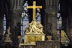 Catedral interior de Notre Dame Foto de archivo