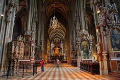 Catedral interior de Viena, Austria Fotos de archivo libres de regalías