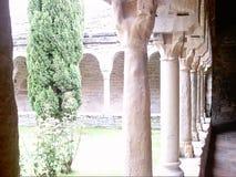 Catedral interior Roda de Isabena del patio Imagen de archivo libre de regalías