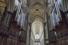 Catedral interna de Salisbúria fotografia de stock royalty free