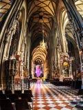 Catedral interna de Stephen em Viena fotografia de stock
