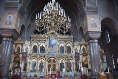 Catedral interna de Uspenski, Helsínquia Imagem de Stock