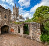 Catedral Kent Southern England Reino Unido de Canterbury fotografia de stock