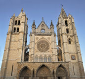 Catedral of Leon Royalty Free Stock Images