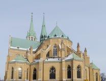 Catedral, Lodz, Polonia Imagen de archivo libre de regalías