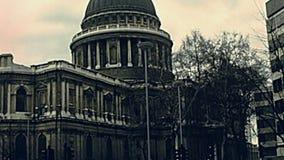 Catedral Londres del St Pauls almacen de video