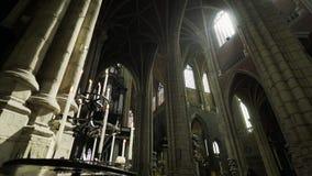 Catedral medieval almacen de metraje de vídeo
