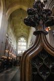 Catedral medieval del detalle de madera Fotos de archivo libres de regalías