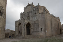 Catedral medieval em Erice Imagens de Stock